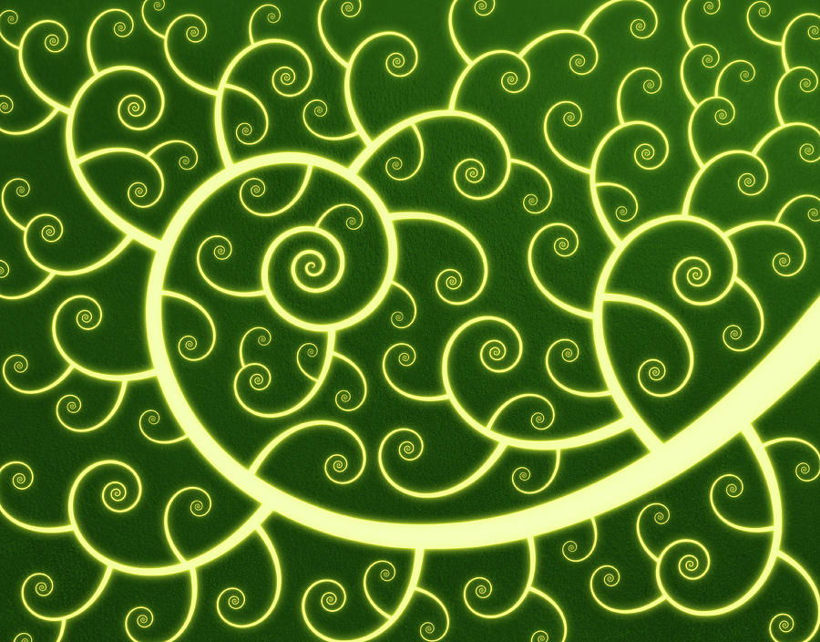 Abstract Spiral Background Digital Art by Chad Baker