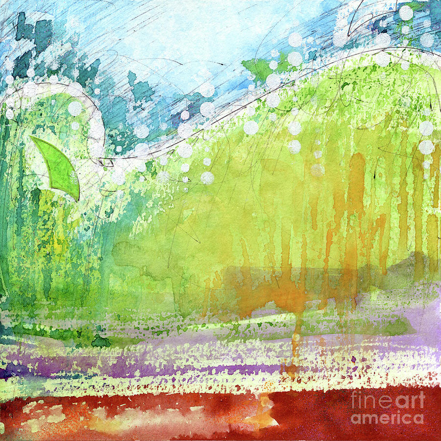 Abstract Painting - Abstract Square Vii by Christine Gilvey