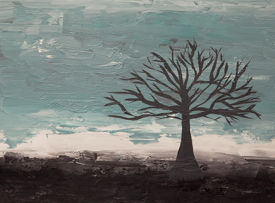 Abstract Tree II Painting by Hilary Winfield