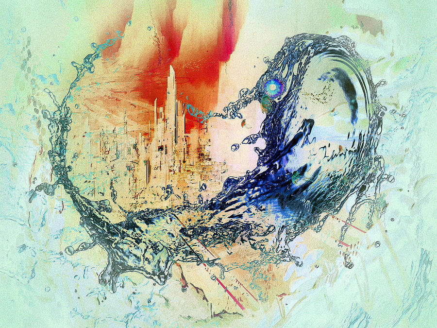 Abstract Water Splash by Robert G Kernodle