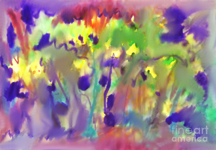Abstract watercolor background. Spring bloom by Irina Dobrotsvet