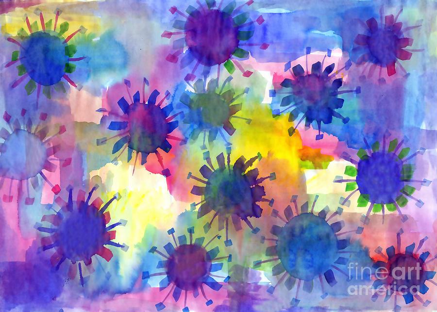 Vivid Watercolor blots by Irina Dobrotsvet