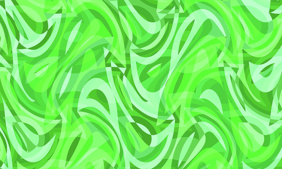 Waves Digital Art - Abstract Waves Painting 0010086 by P Shape