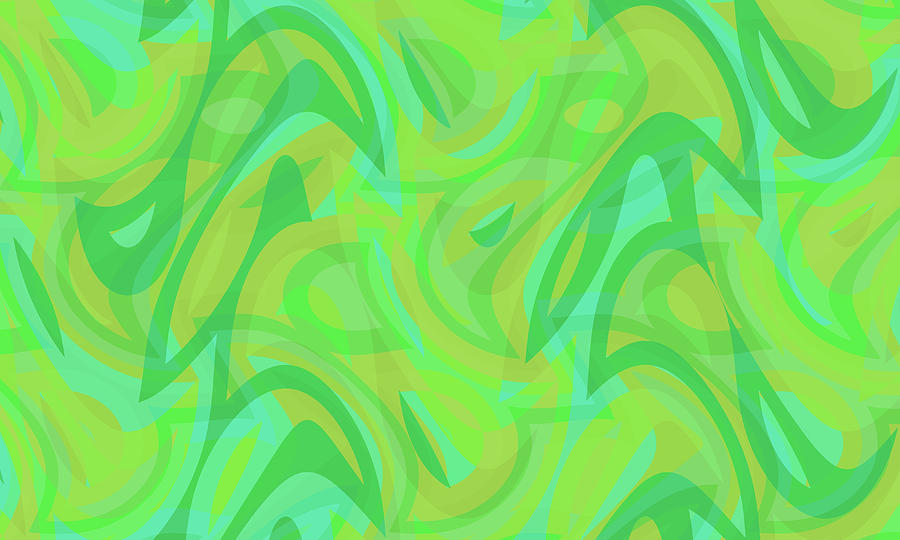 Waves Digital Art - Abstract Waves Painting 0010089 by P Shape