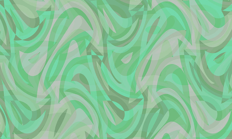 Waves Digital Art - Abstract Waves Painting 0010092 by P Shape