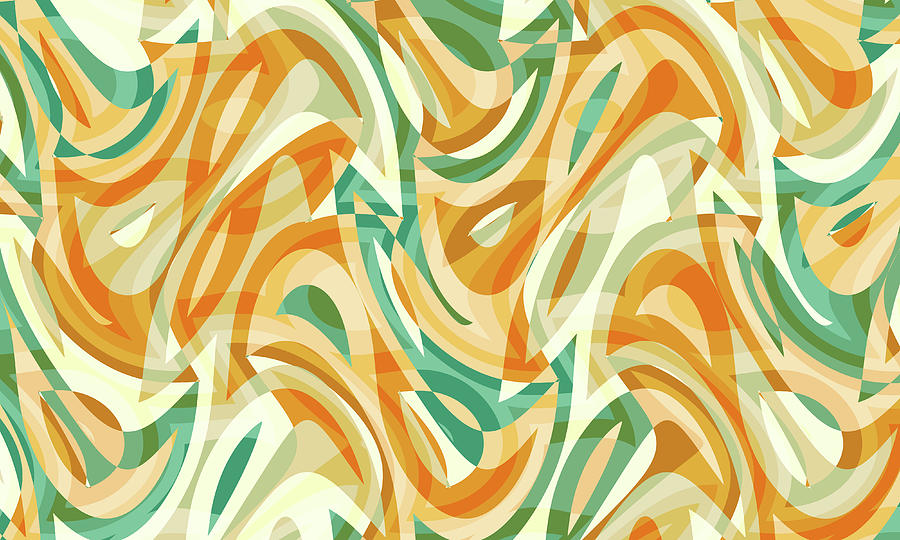 Waves Digital Art - Abstract Waves Painting 0010105 by P Shape