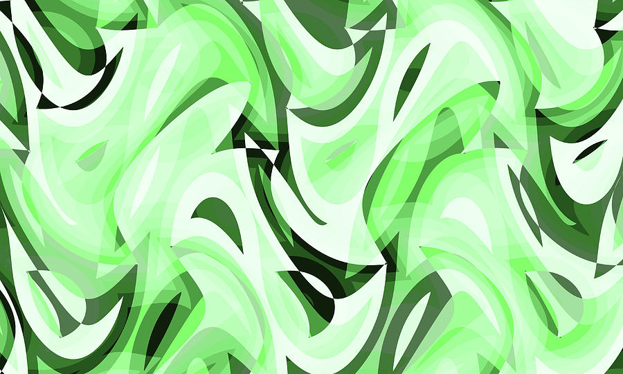 Waves Digital Art - Abstract Waves Painting 0010108 by P Shape