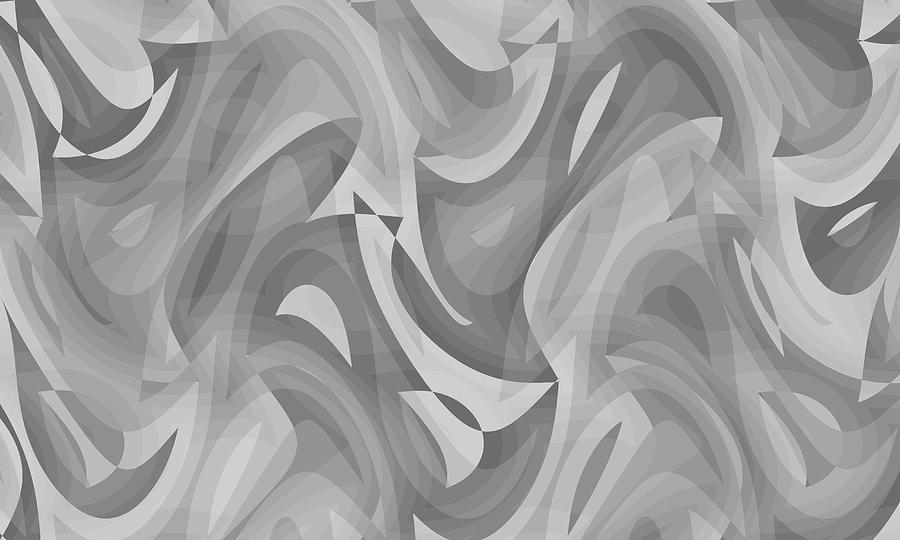Waves Digital Art - Abstract Waves Painting 0010119 by P Shape