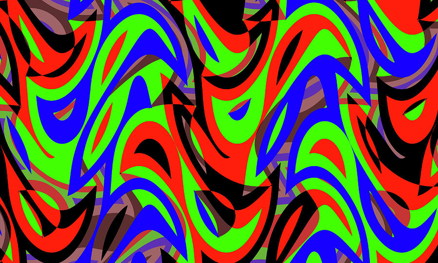 Abstract Waves Painting 005581 Digital Art