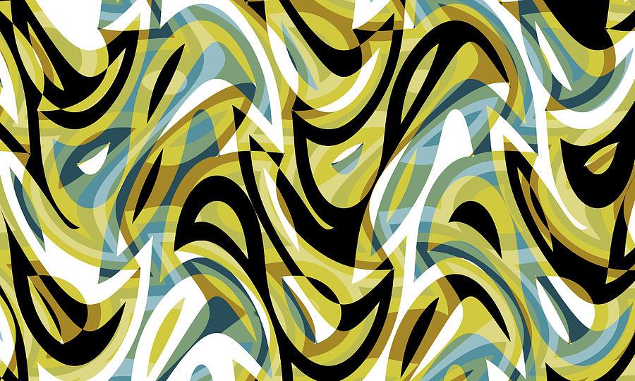 Abstract Waves Painting 007050 Digital Art