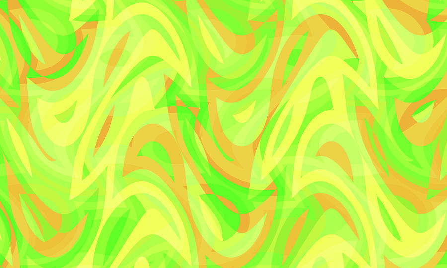 Waves Digital Art - Abstract Waves Painting 007178 by P Shape