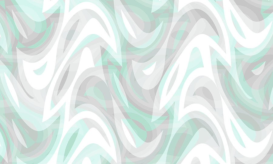 Waves Digital Art - Abstract Waves Painting 007194 by P Shape