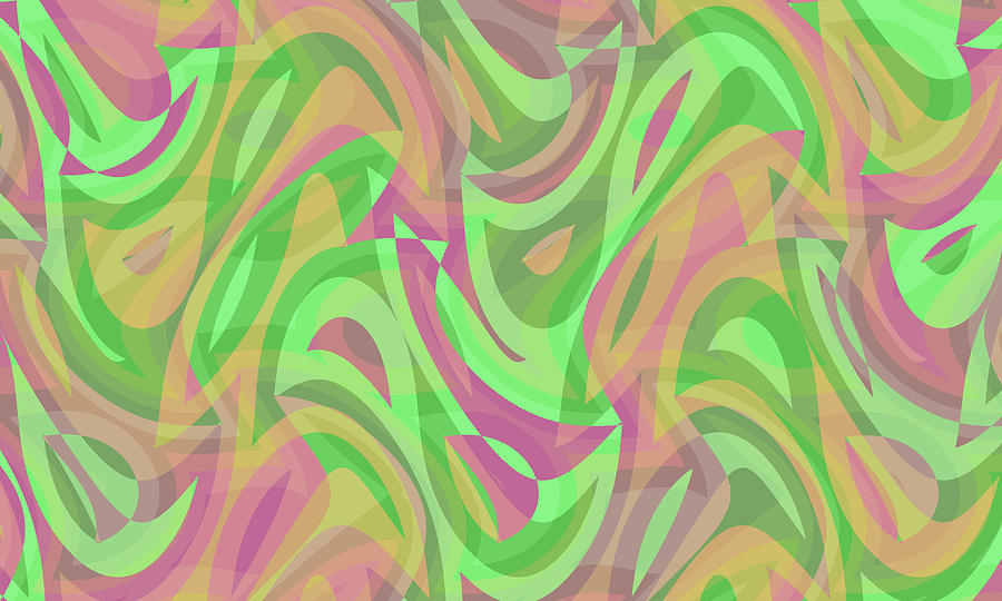 Waves Digital Art - Abstract Waves Painting 007214 by P Shape