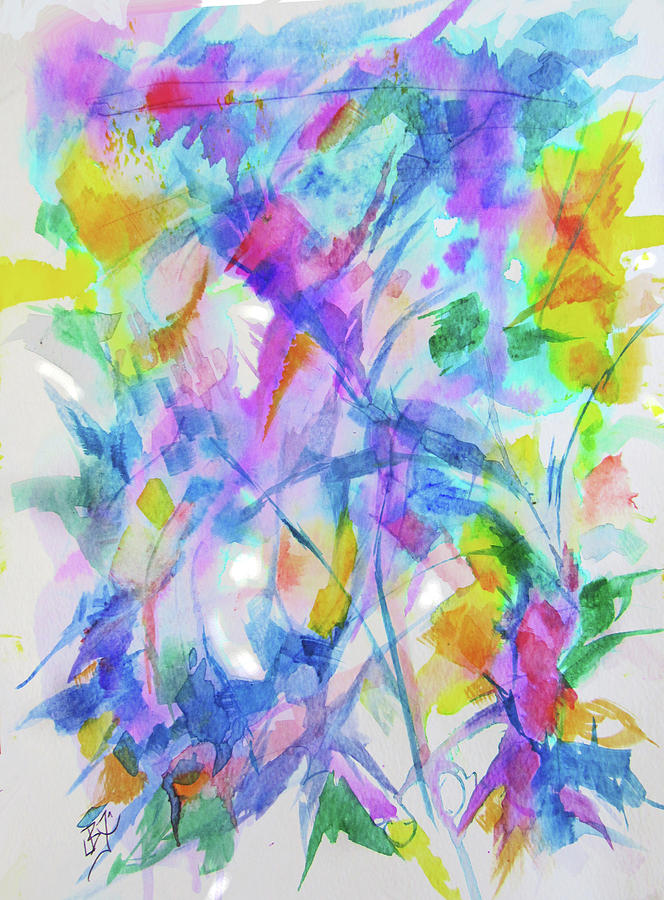 Abstract Flowers 7 by Jean Batzell Fitzgerald