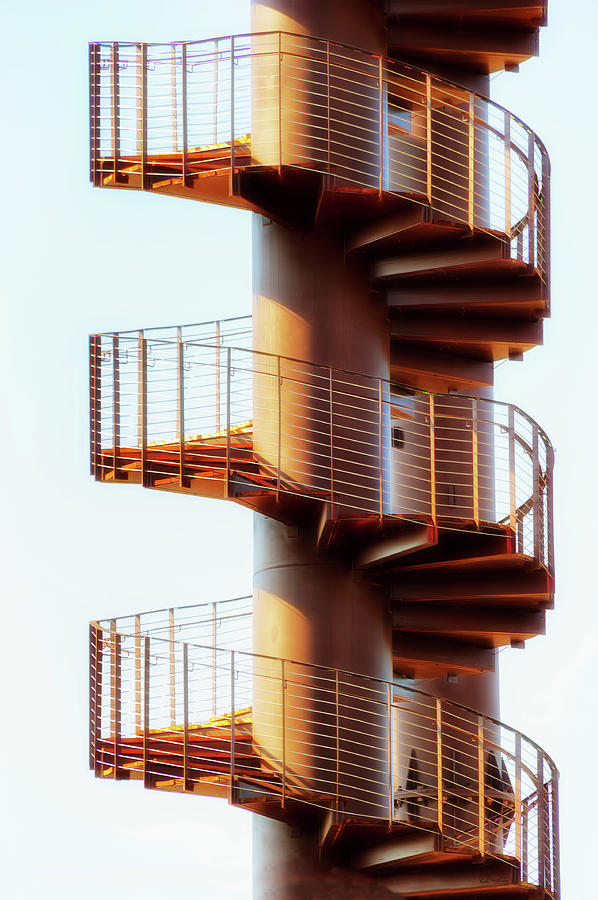 Abtract Spiral Outdoor Staircase by Dee Browning