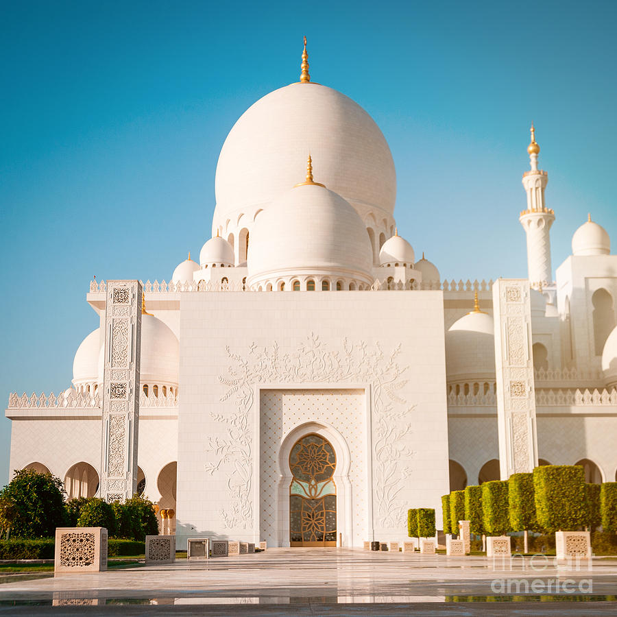 Allah Photograph - Abu Dhabi Sheikh Zayed White Mosque Uae by Tatyana Vyc