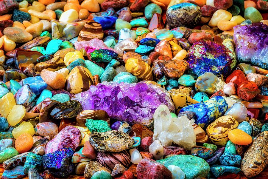 Quartz Photograph - Abundance Of Rare Stones by Garry Gay