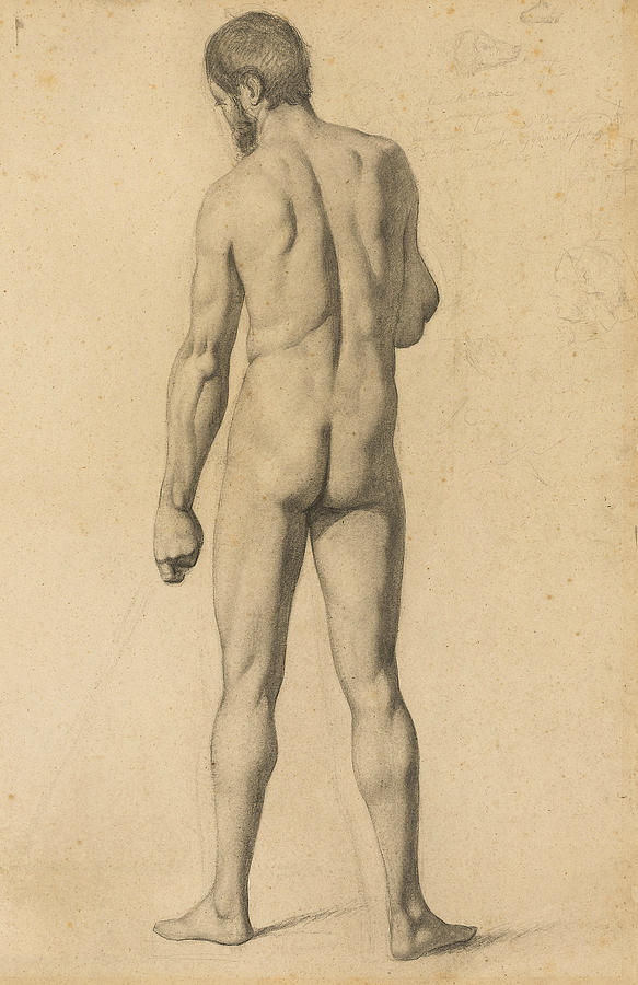 Academic Nude, Seen from the Back by Paul Cezanne