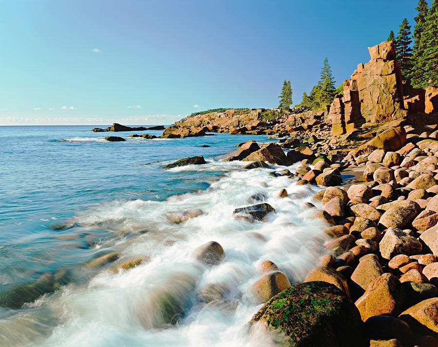 Acadia National Parks Rocky Atlantic Photograph by Ron thomas