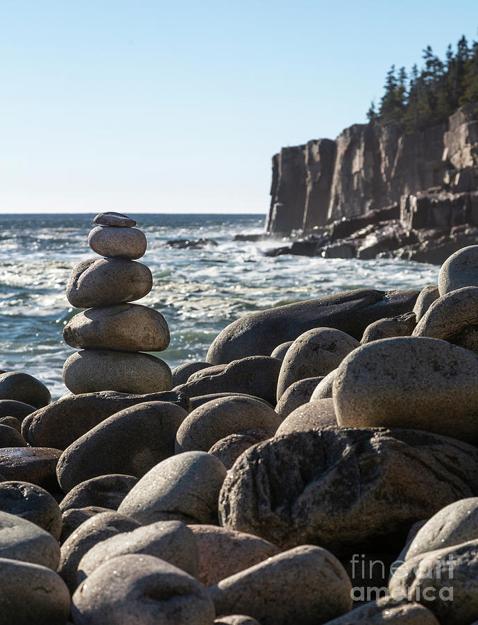 Acadia Rocks by Karin Pinkham