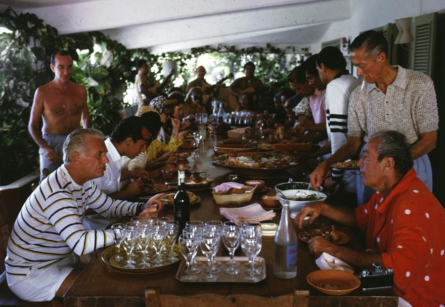 Acapulco Lunch Photograph by Slim Aarons
