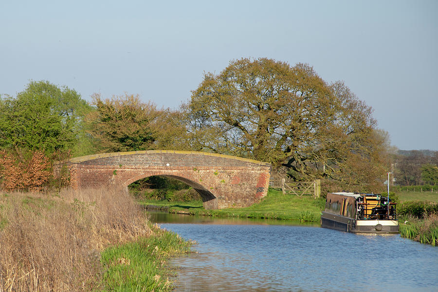 Canal Photograph - Accommodation Bridge by Steev Stamford