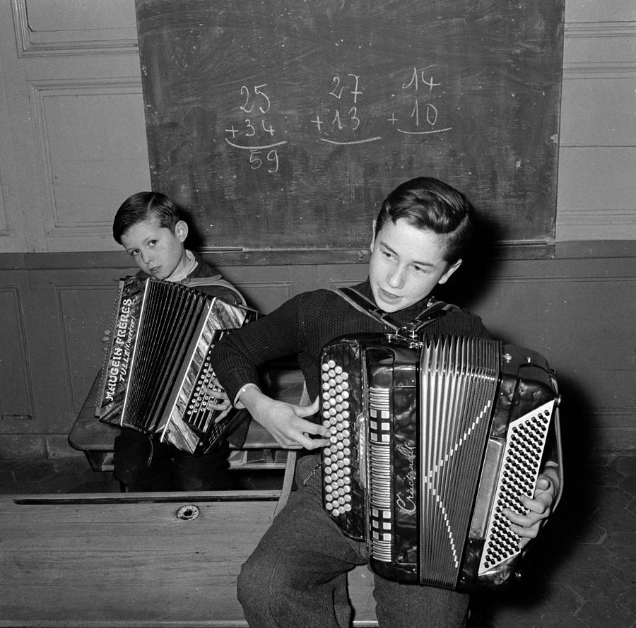 Accordion Maths Photograph by Paul Almasy