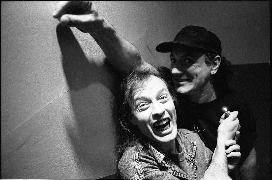 Brian Johnson Photograph - Acdc Angus Young And Brian Johnson by Martyn Goodacre
