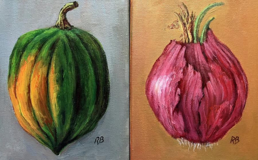 Acorn Squash And Red Onion by Randy Burns
