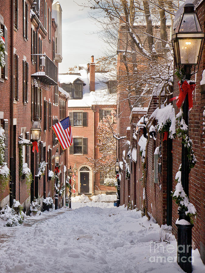 Acorn Street Snowfall by Susan Cole Kelly