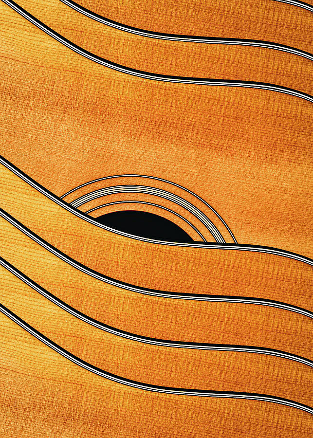 Acoustic Curves No 7,V by Bob Orsillo
