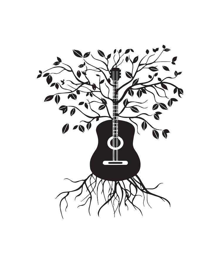 Гитара дерево рисунок