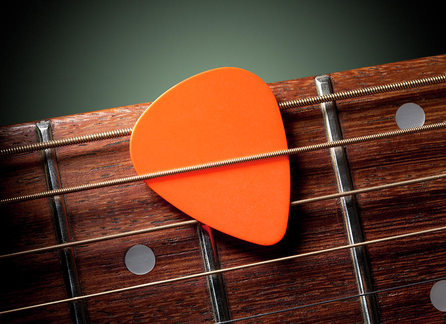 Acoustic Guitar With Pick Photograph by Malerapaso