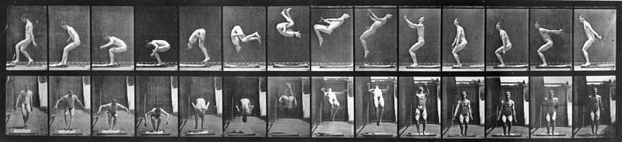 Acrobat Photograph by Eadweard Muybridge