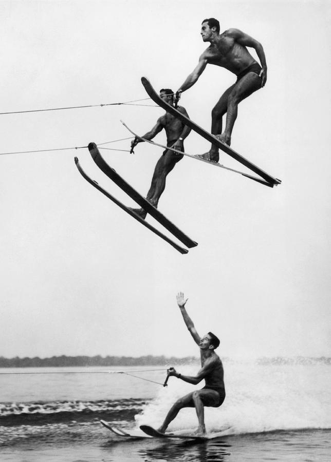 Acrobatic Nautical Ski. 1950s Photograph by Keystone-france