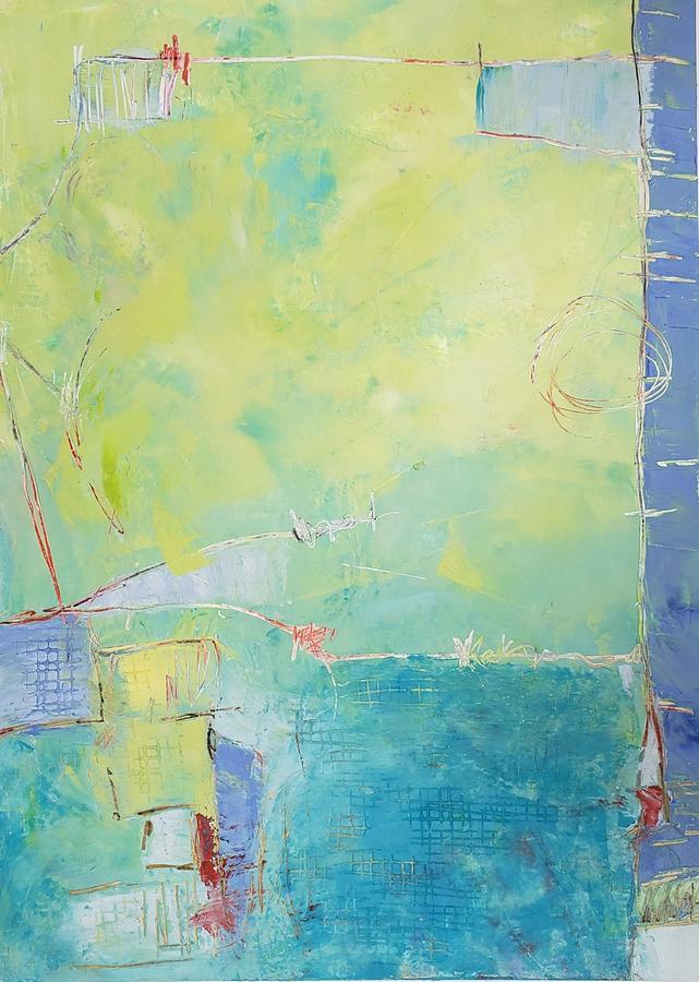 Acrobatics Painting by Ellen Kirwan