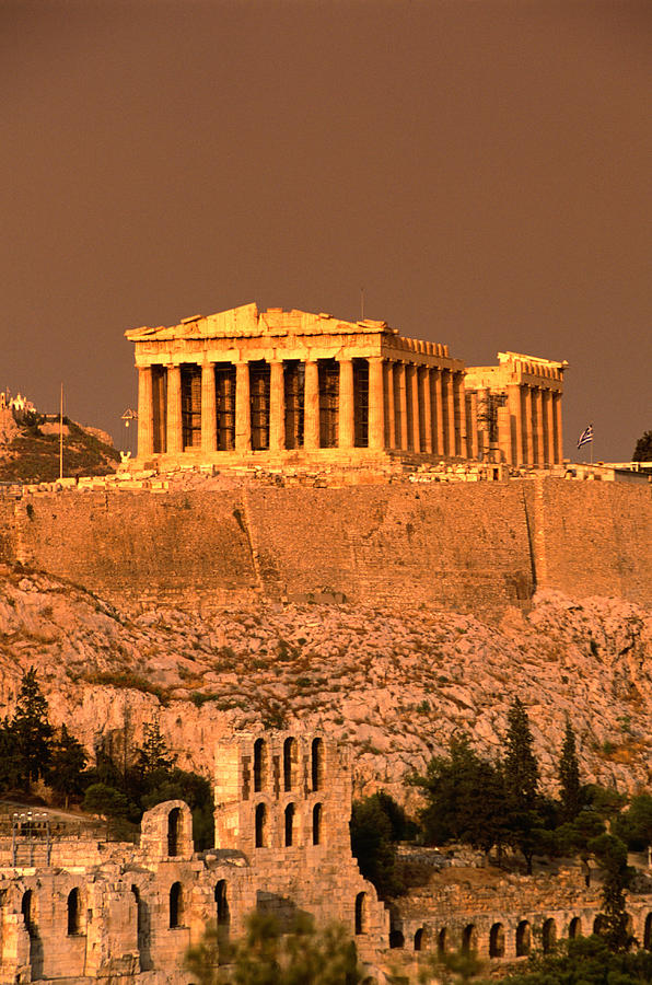 Acropolis And Parthenon From Filopappou Photograph by Lonely Planet