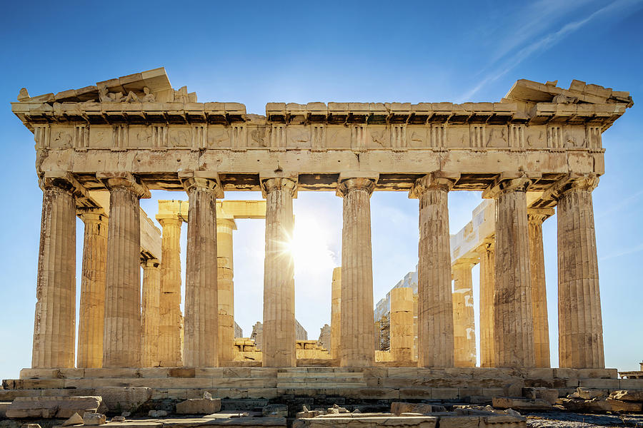 Acropolis Parthenon Temple,athens,greece Photograph by Mlenny
