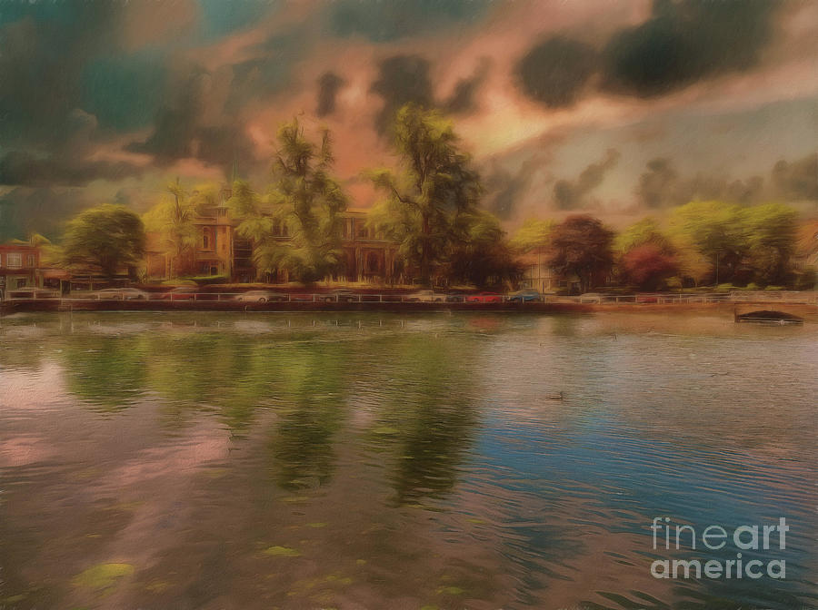 Painterly Photograph - Across The Water by Leigh Kemp