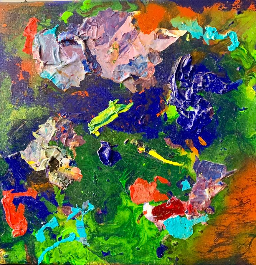 Acrylic Mixed Media Pour B by Laura Jaffe