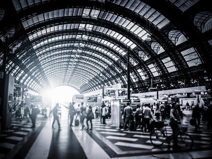 Activity In Milan Central Station, Italy Photograph by Cirano83
