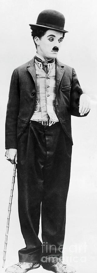 Actor Charlie Chaplin In Costume Photograph by Bettmann