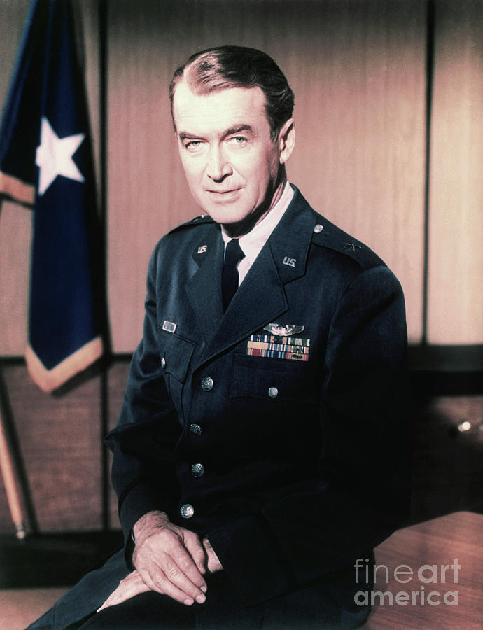 Actor James Stewart Wearing Brigadier Photograph by Bettmann