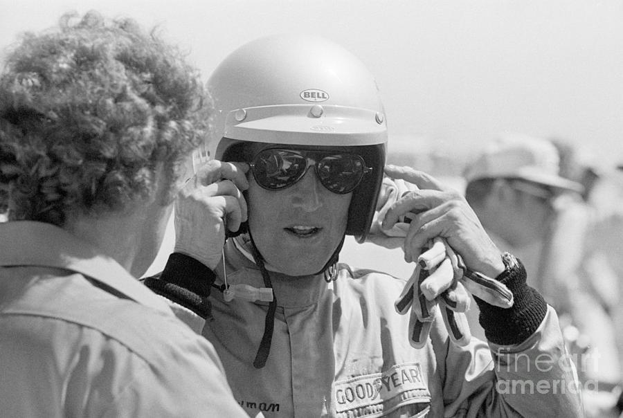 Actor Paul Newman After Qualifying Photograph by Bettmann