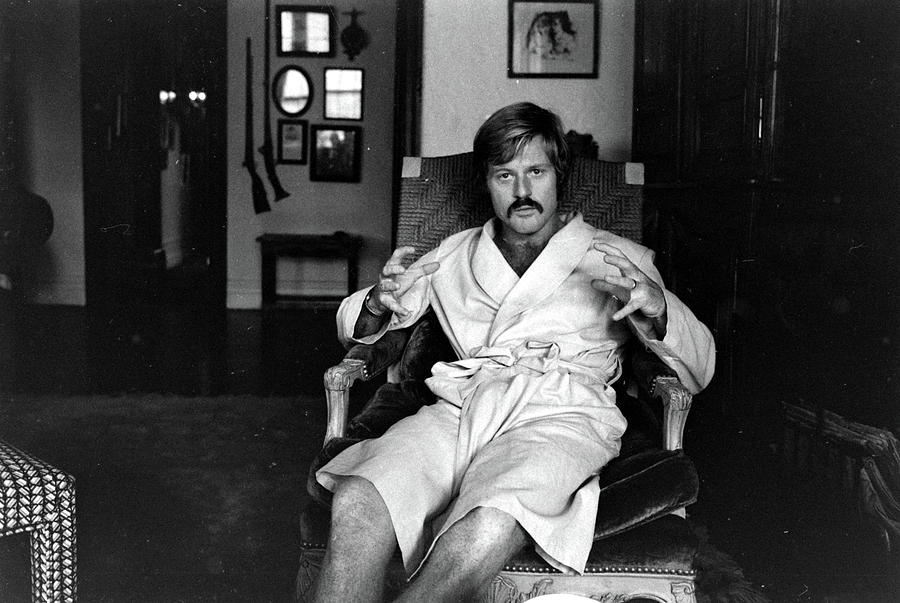 Actor Robert Redford In Bathrobe At Photograph by John Dominis