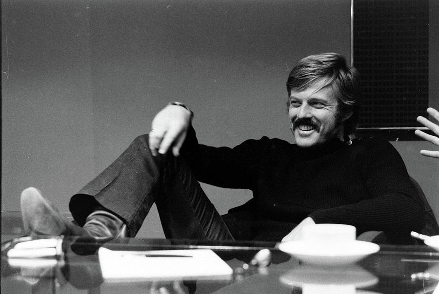 Actor Robert Redford In His Agents Photograph by John Dominis