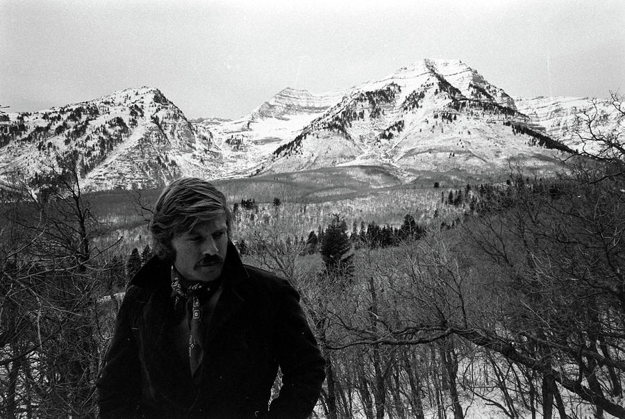 Actor Robert Redford On His Property In Photograph by John Dominis