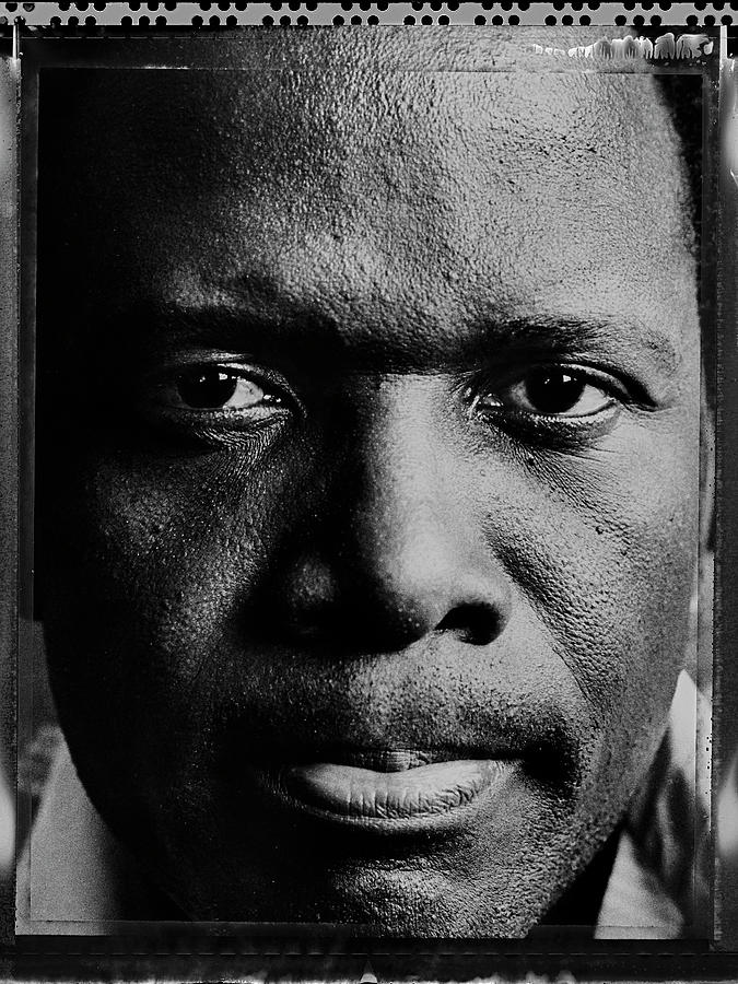 Actor Sidney Poitier Portrait Session Photograph by George Rose