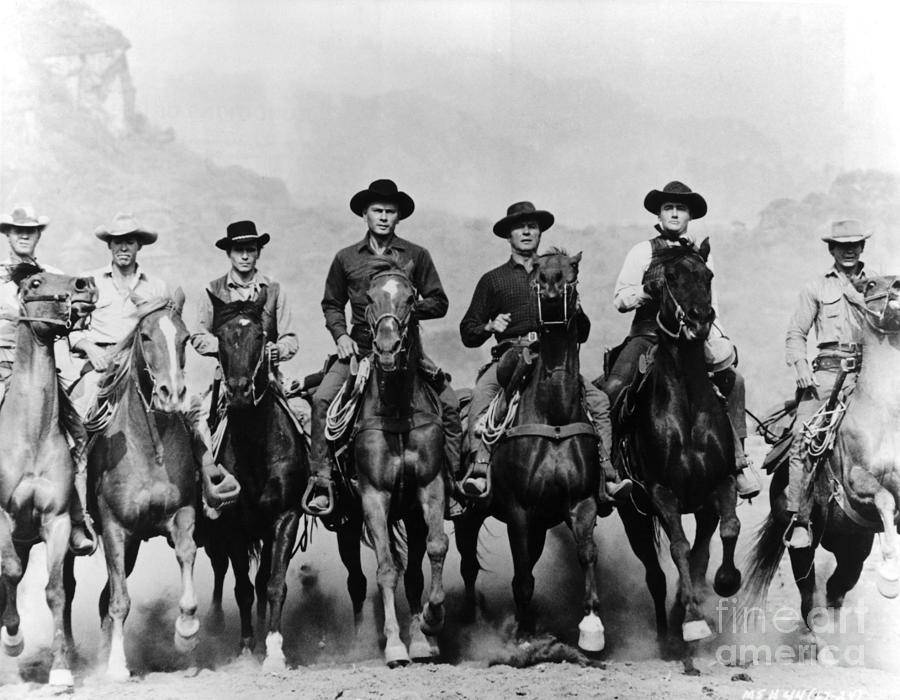 Actors From The Magnificent Seven Photograph by Bettmann