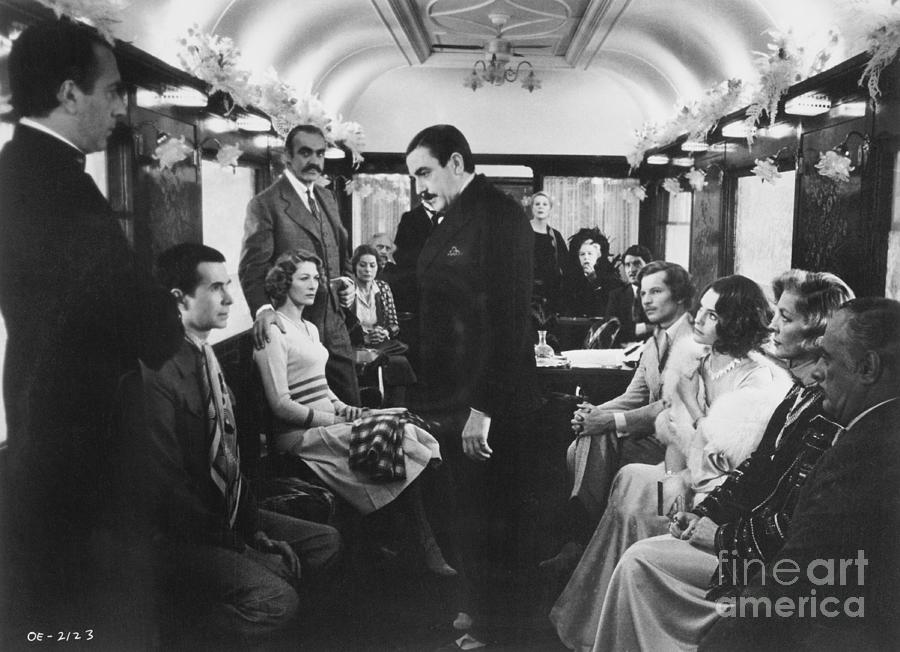 Actors In Murder On The Orient Express Photograph by Bettmann